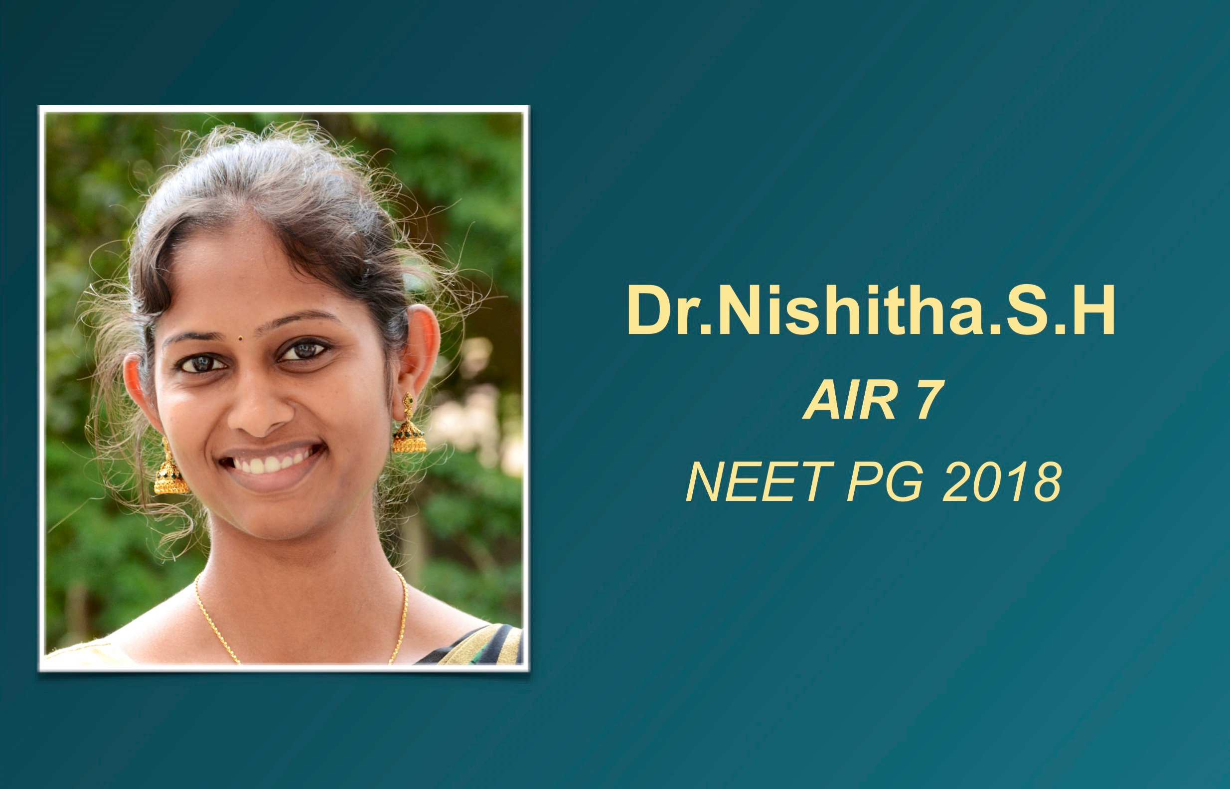 How Dr Nishitha aced an AIR 7 in NEET PG 2018 with just 7