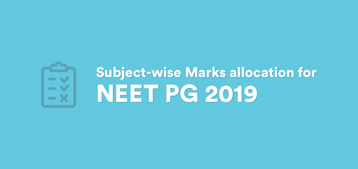 Subject-wise Marks allocation for NEET PG 2019 - Marrow