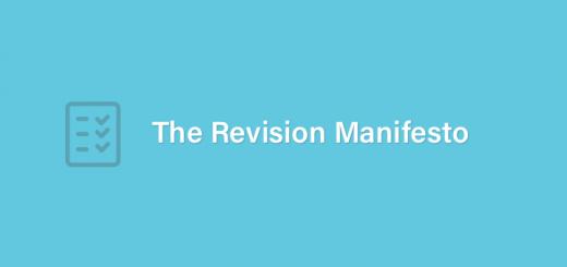 Revision Manifesto