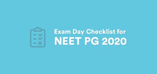 NEET PG 2020 Checklist